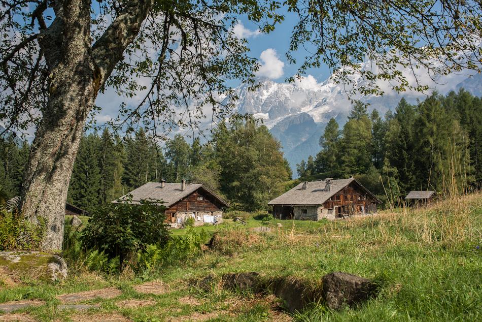 Hameau de Charousse et ses chalets d'alpage aux Houches