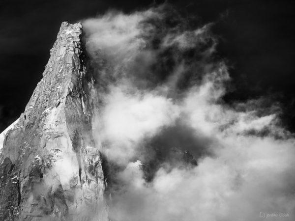 Photo des Drus en noir et blanc
