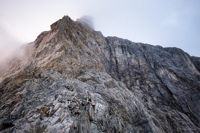 Vue sur la Muraille Castelnau à la Meije