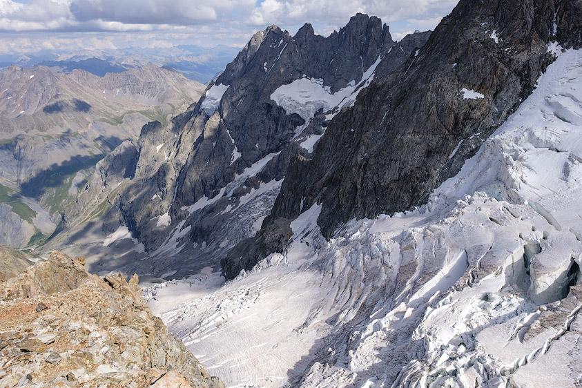 Le Glacier de l'Homme et les Pointe Nérot, Pointe des Pichettes et Pointe Piaget