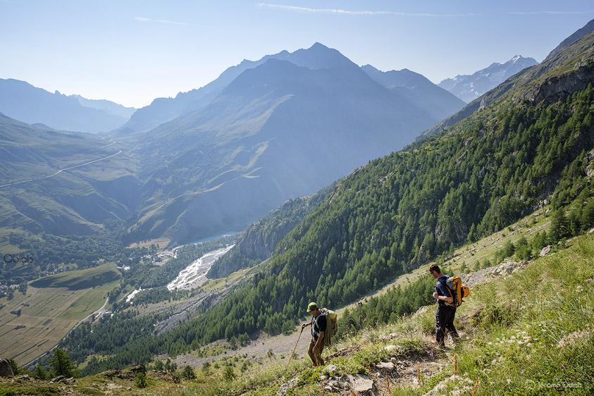 Fin de la descente vers le Pied du Col du Lautaret