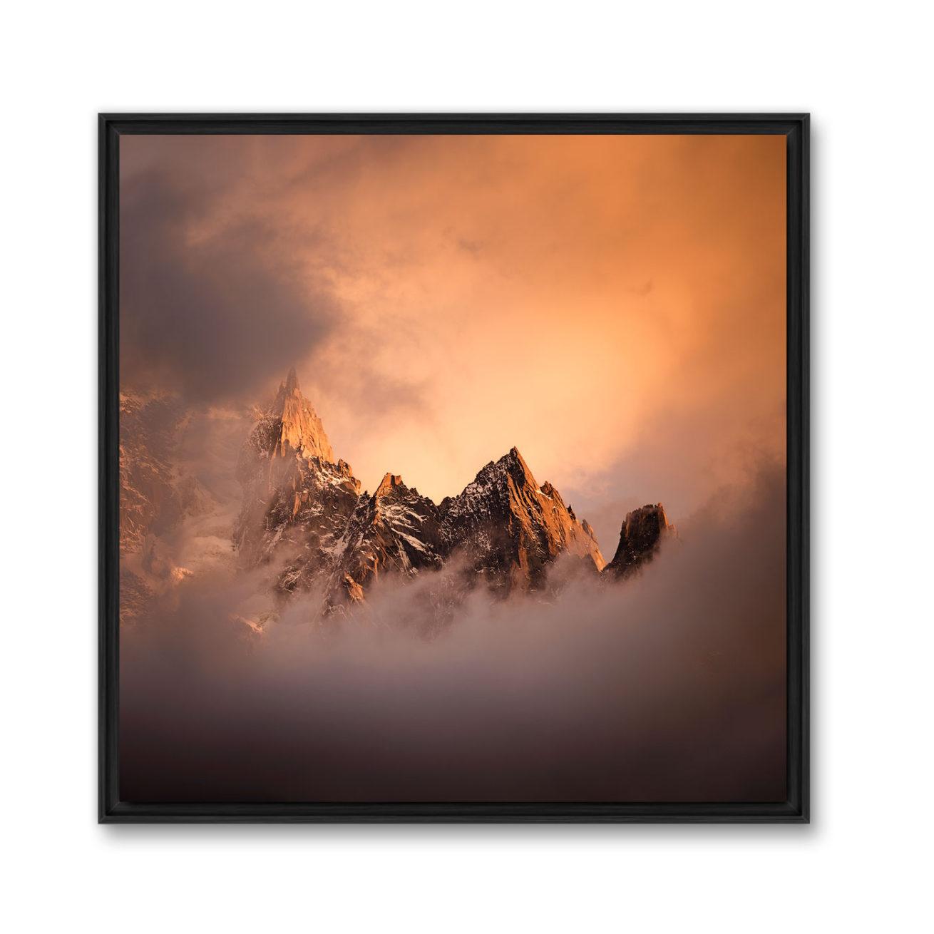 Tableau photo montagne d'un Tirage d'art d'une photo d'art montagne noir et blanc en caisse américaine