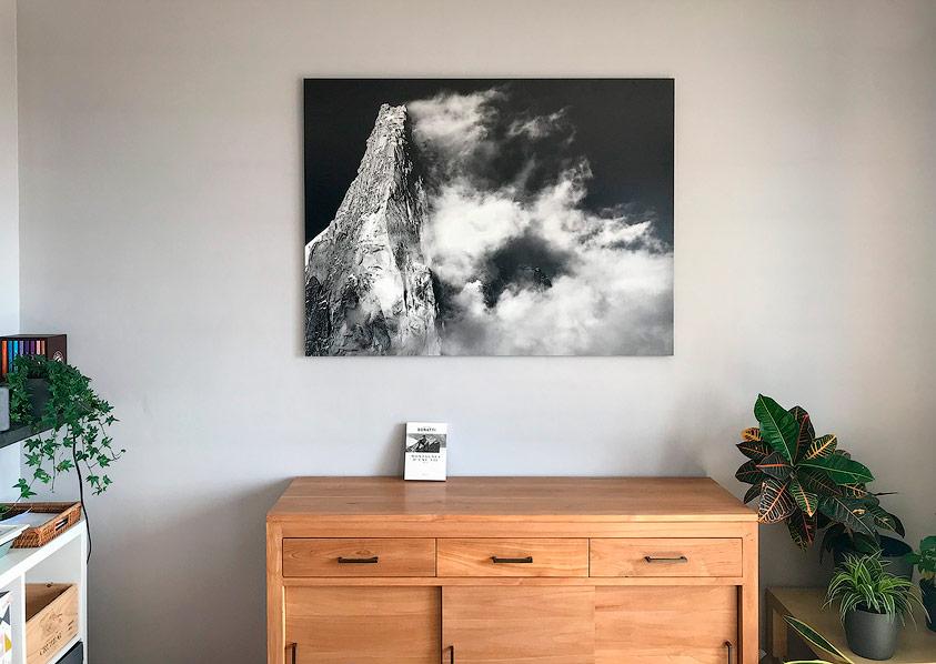 Photo murale montagne sans cadre en intérieur