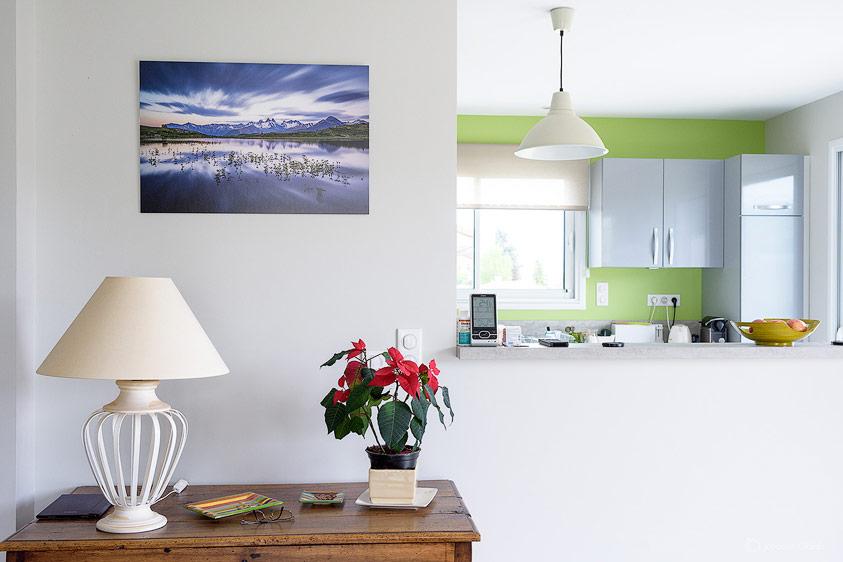 Photo murale couleur dans un interieur design